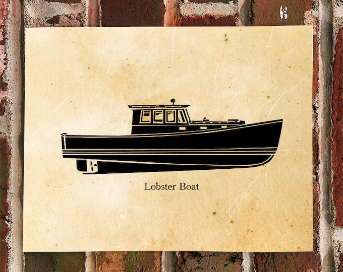 KillerBeeMoto: Vintage Lobster Boat Print