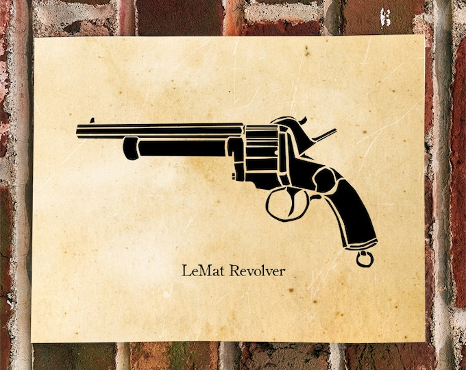 KillerBeeMoto: Limited Print Civil War Era LeMat Revolver
