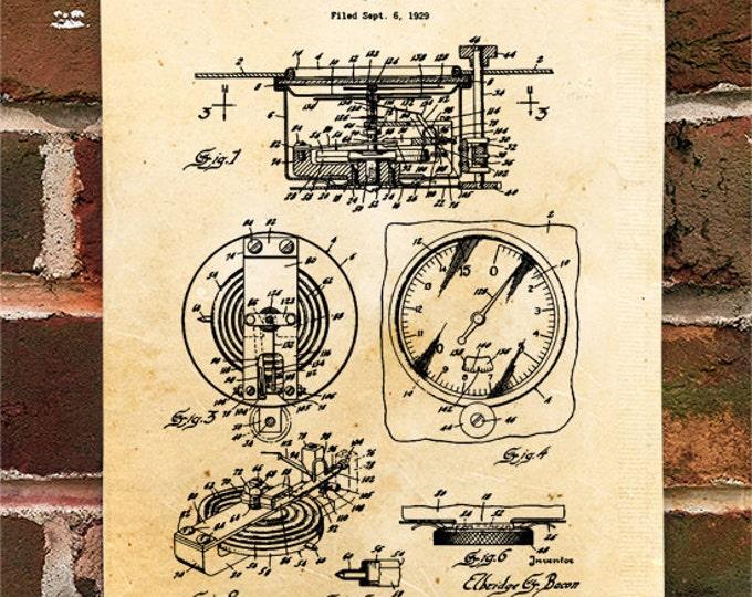 KillerBeeMoto: Duplicate of Original U.S. Patent Drawing For Vintage 1920's Altimeter Design