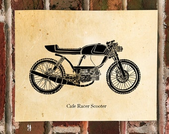 KillerBeeMoto: Limited Print Cafe Racer Moped Designed By Rogue Build Customs 1 of 50