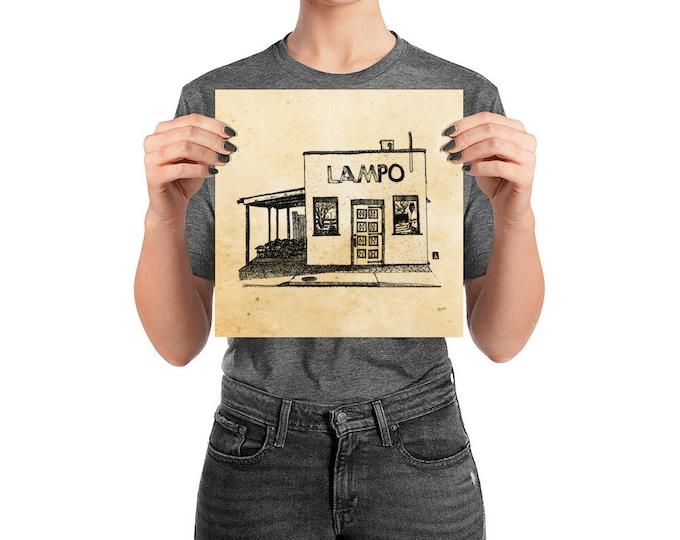 KillerBeeMoto: Charlottesville Area Bucket List Lampo Pizzeria Ink Sketch Drawing On Various Mediums