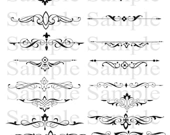 125 or 190 thickness film Swirls and Scrolls Design Stencil  A4 Size