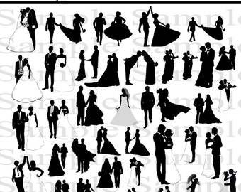 38 Wedding Party Silhouettes