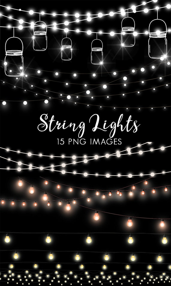 String Lights Clipart Fairy Clip Art Party