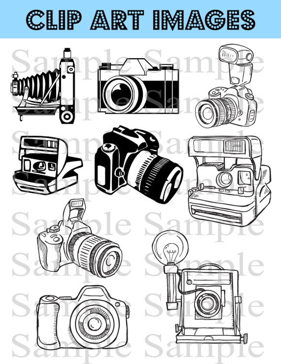 Camera Clipart Clip Art Instant Download Photography Logo Etsy