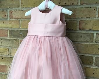 56381aa9f Blush Flower Girl dress, Junior Bridesmaid wedding children dress, Girls  Birthday dress, Pageant dress, customized communion Dress.