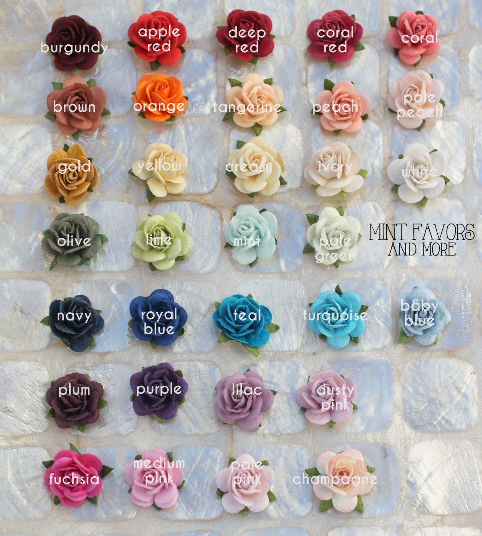Flower Embellishments Roses Wedding Favors Embellishments Etsy