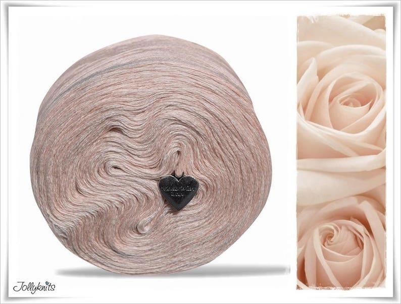 Merino Solid Yarn Rose Beige 500m