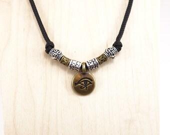 KarmaCords® Eye of Horus Charm Necklace