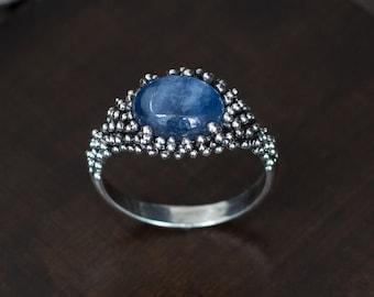 b1979f181ed Indigo gemstone ring | Etsy