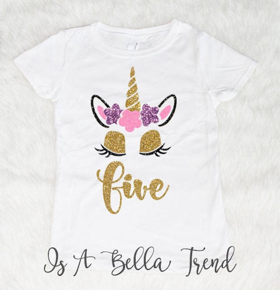 Gift for 5 Year Old Girl Unicorn 5th Birthday Infant Girls/' Fitted T-Shirt Bday