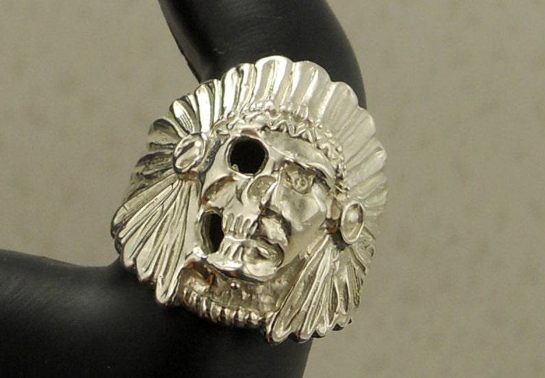Sterling Silver Skull Ring Lost Wax Casting .