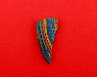 Rainbow Calsilica Hand Cut Freeform Designer Cabochon.