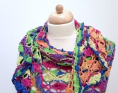 crocheted shawl in gorgeo...