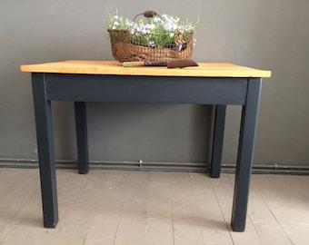 beautiful antique black table