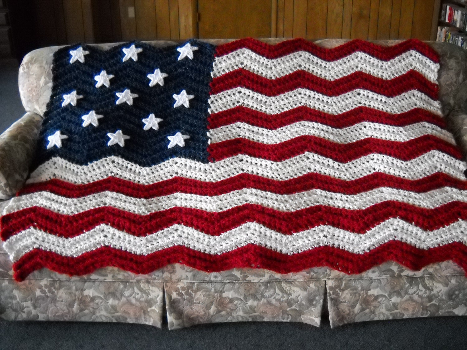 Luxury American Flag Afghan Crochet Pattern Adornment - Sewing ...