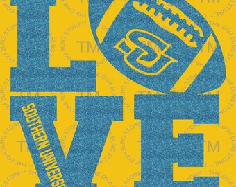 Love Southern University Football SVG File
