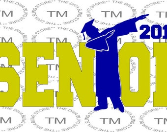 Dabbing Senior 2018  SVG file