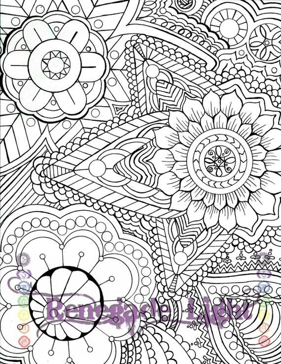 Página para colorear de zentangle adultos página para | Etsy
