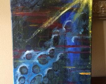 """Brumous - 11""""x 14"""" acrylic on canvas"""