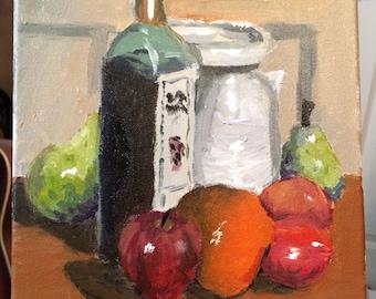 "Still life by Matt 9"" x 12"" acrylic on canvas"
