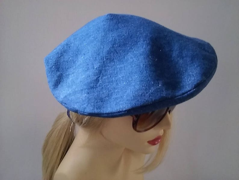 df8e3f46bf59a Simply Vintage Beautiful Denim Beret Hat | Etsy
