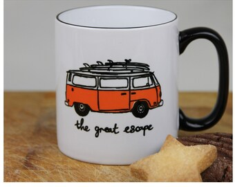 Great Escape VW Bay Window Camper Van Mug