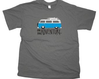 Men's VW Bay Window Camper Van Adventure T-Shirt