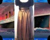 Titanic Fashion – 1st Class Women's Clothing TITANIC INSPIRED DRESS  3pc Regency Dinner Dress  Sash  Extra Bow  Choose Color $254.90 AT vintagedancer.com