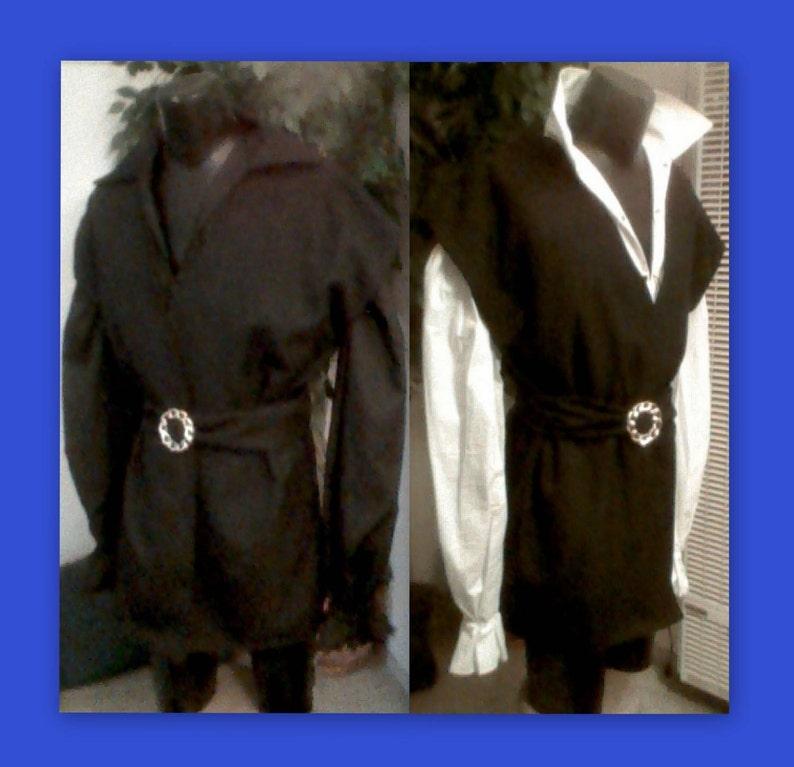 Midnight Black STANDARD VIKING TUNIC Vest 2Pc
