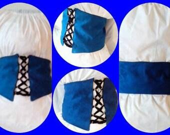 SampleSale: Faux Suede Royal Blue Renaissance Waist Cincher