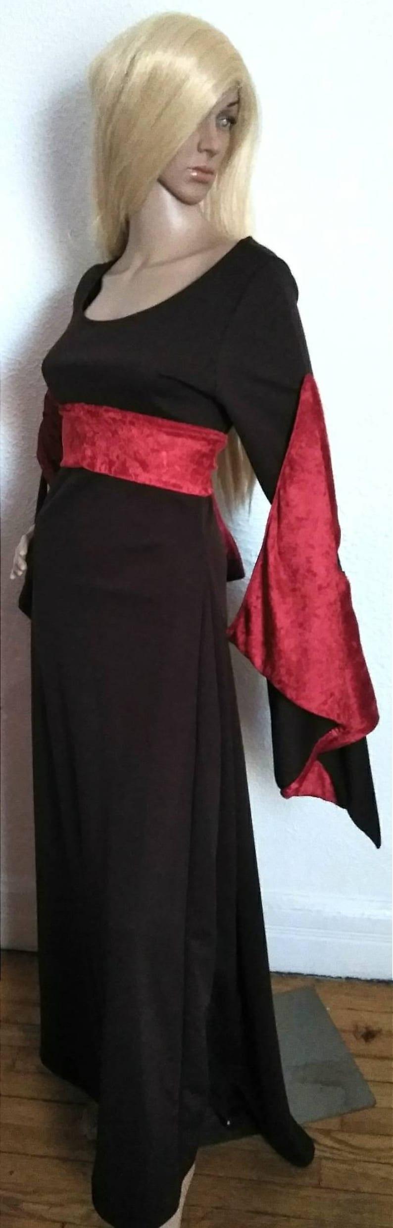 Viking -/_Renaissance MEDIEVAL ELVEN GARDEN Dress Fairy Mother Nordic Larping