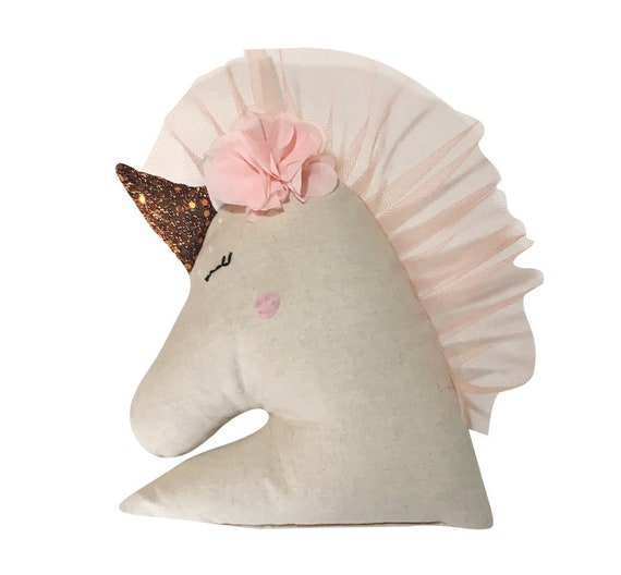 Unicorn pillow sewing kit from SewCraftCook.