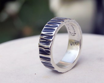 The PERFECT SILVER RING - Architectural Ring - Ring - Wedding Band - For Men and Women alike!