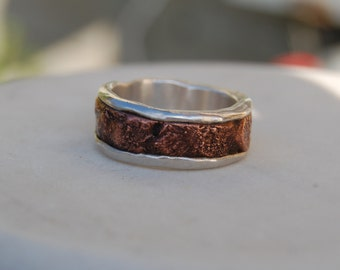 THE EVERYWOMAN RING - Architectural Ring-Copper Ring - Ring Band - Textured Band - Wedding Band - Unisex Style