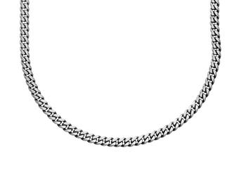Classic Sterling Silver Curb Chain Necklace