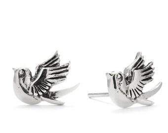 Flying Swallow Stud Earrings