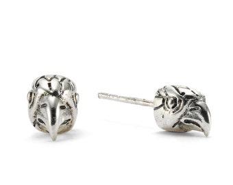 Hawk Totem Stud Earrings
