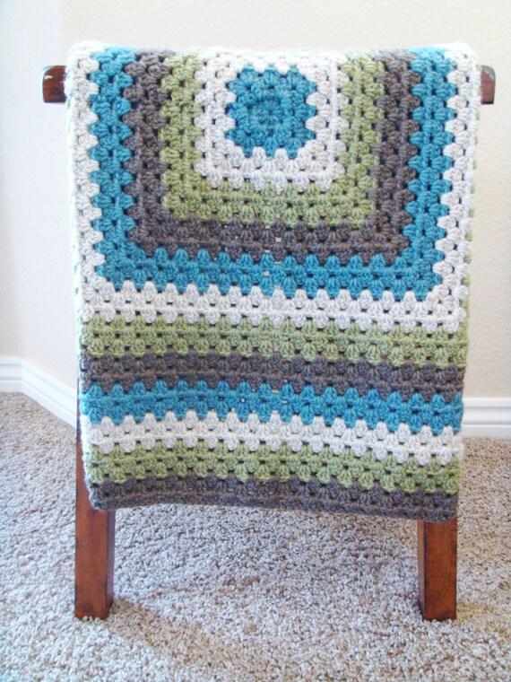 Häkeln Babydecke für jungen häkeln Oma Square Decke | Etsy