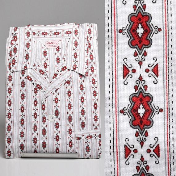 XS Deadstock 1950s Mens Pajamas Sanforized Cotton