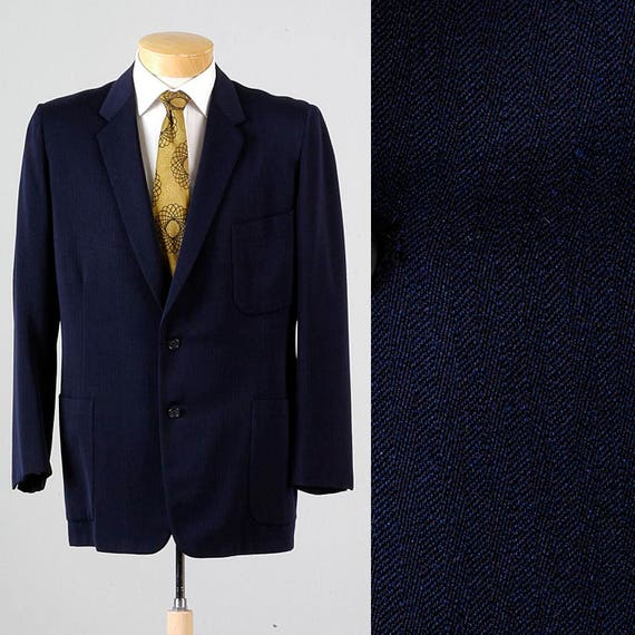 Incredible Hart Vintage Blazer Mens 42R Style Schaffner 50s 42 Jacket Herringbone Navy Rare Sportcoat Marx 8f8rq