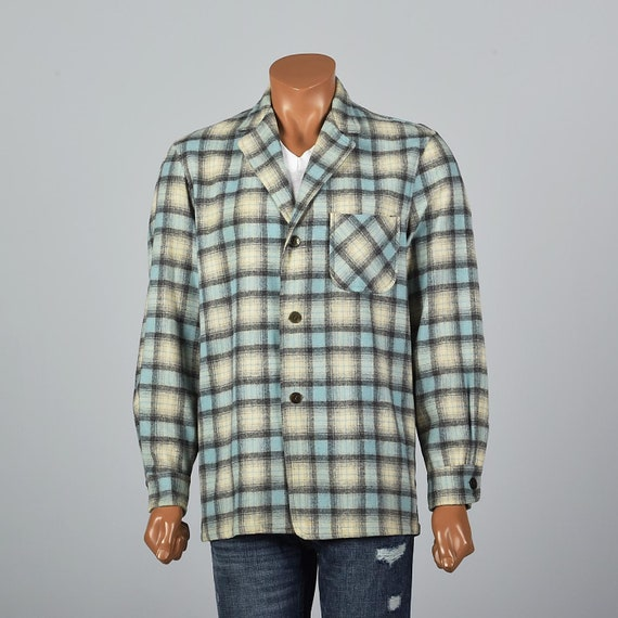 Medium Mens 1950s Wool Jacket 50s Casual Jacket Pl