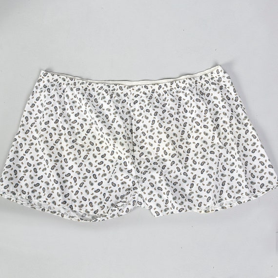 4XL 1970s Mens Paisley Boxer Shorts Cotton Blend W