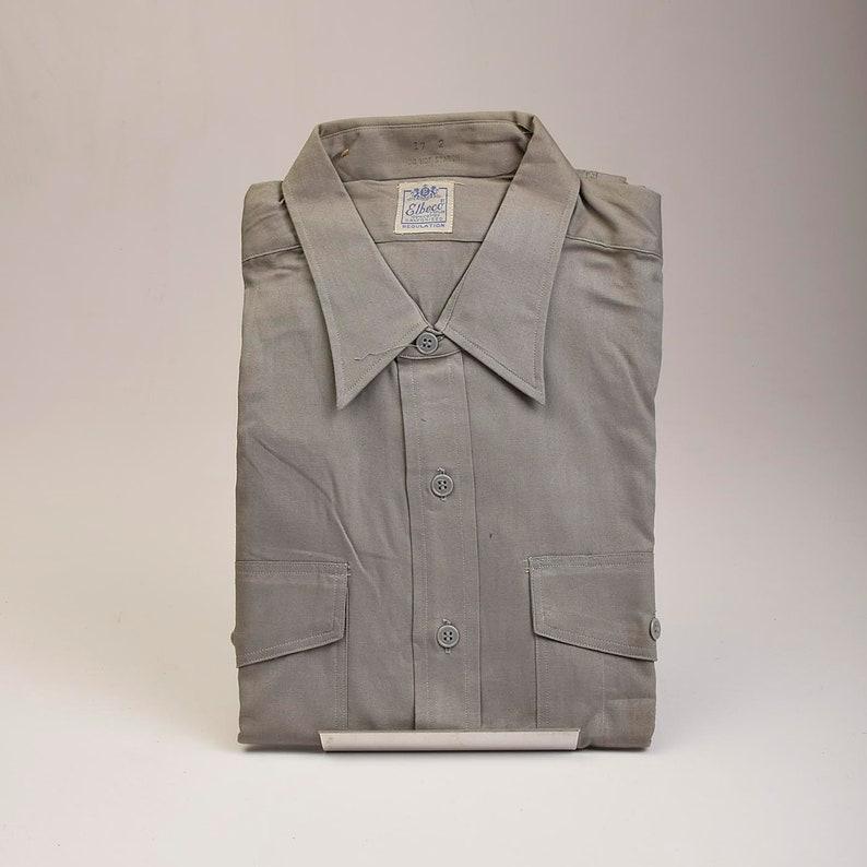 61ef6d0f NOS Deadstock Mens Vintage 50s Elbeco Sanforized Cotton Poplin | Etsy