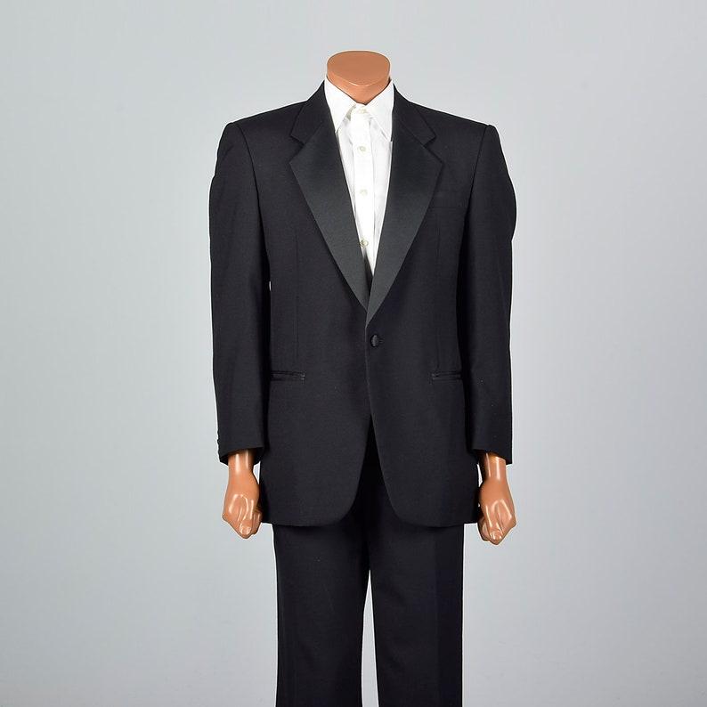 f60adb8ac6b 41R 36x27.5 Mens Black Tuxedo Two Piece Tuxedo Tux Formal | Etsy