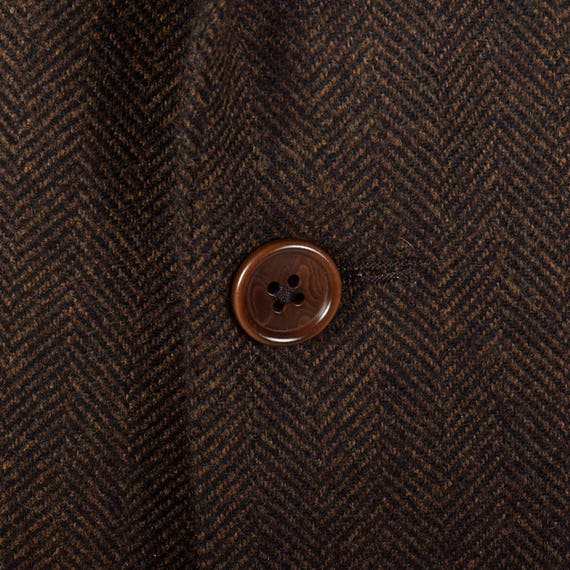 Front Vent Vintage Pockets 42L Cashmere Button Jacket Double Three Wool Blend Mens Convertible Menswear Jacket Brown zZqxROzA