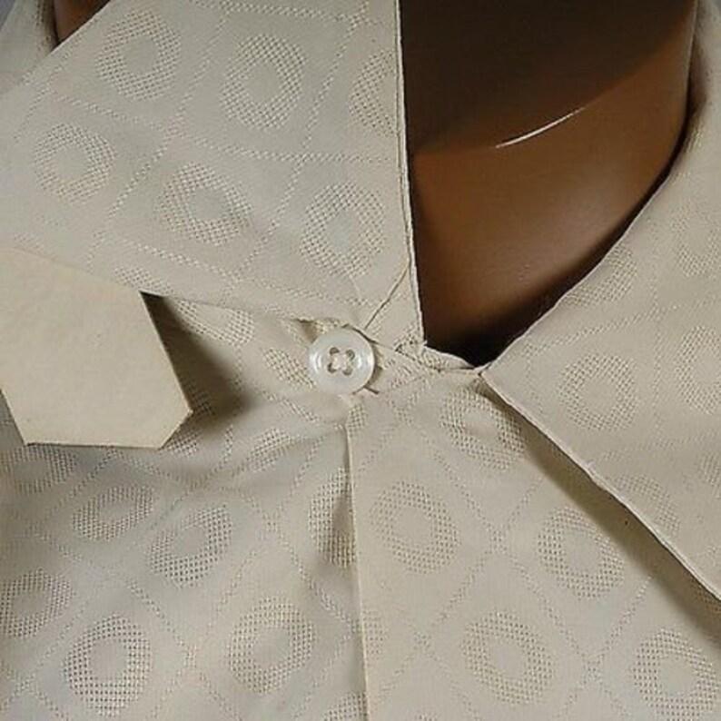 Mens Vintage 40s NOS Deadstock Mark Twain Pleisure Shirt Loop Collar Short Sleeve