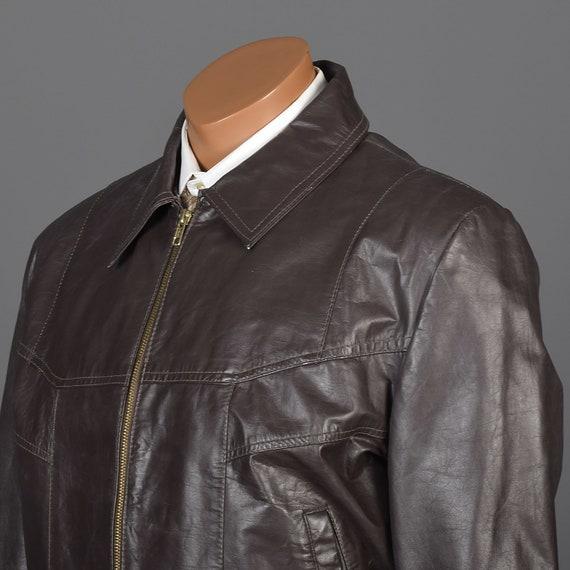 Mens Brown Jacket Man Jacket Jacket 1980s Jacket Zip Sharp Lined Large Vintage Winter Leather Up Bomber Mens 80s Leather Jacket Xq6wnxxTRZ