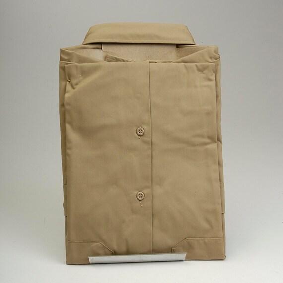 Shirt Vintage Penn Prest Gabardine NOS Mac Deadstock Wear Khaki Big Mens Long Sleeve 70s Work Penneys wx5UCfqPx