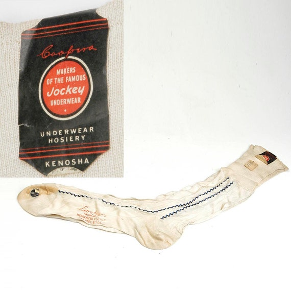1930s Deadstock Mens Coopers Fine Hose White Socks